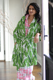 Banana Leaf Sateen Robe