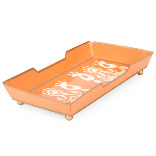 Ikat Orange Guest Towel Tray