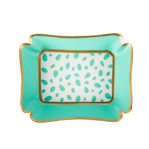Spot On Aqua & White Trinket Tray