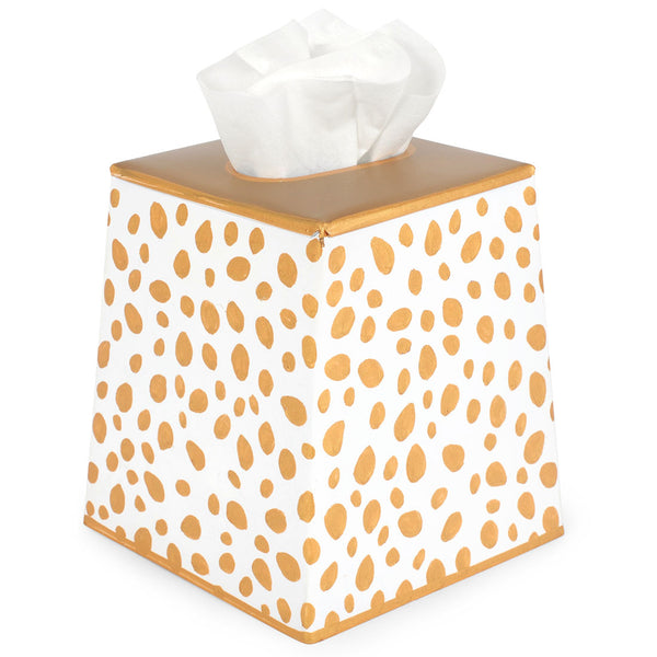 Spot-On Gold Tissue Box Cover
