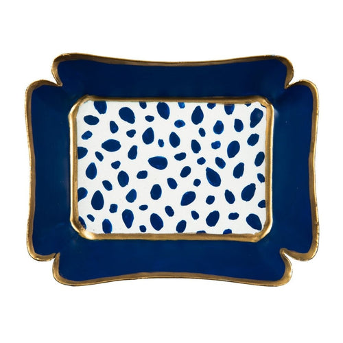 Spot On Navy Trinket Tray