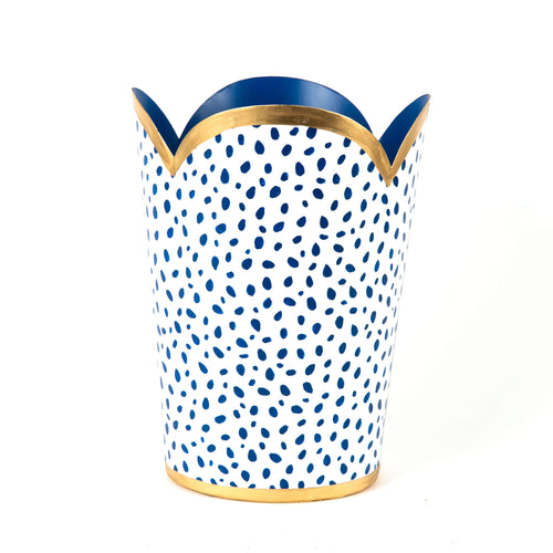 Spot On Navy Tulip Wastebasket
