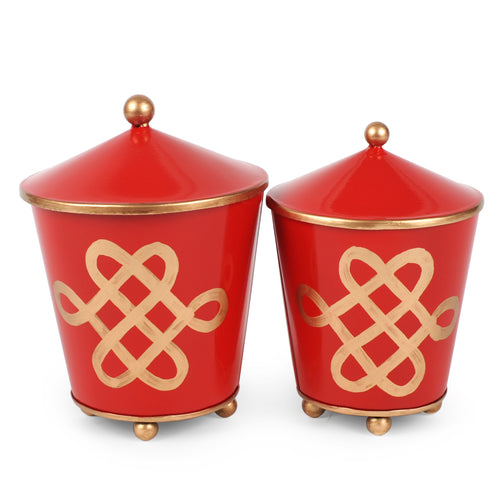 Love Knots Set of 2 Canisters