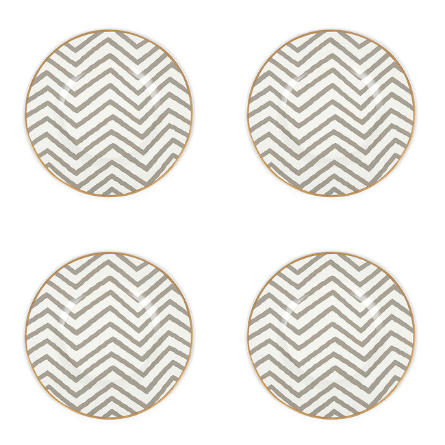 "Kenya Taupe 11"" Charger Plate 4-Pack"
