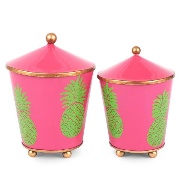 Pineapple Set of 2 Canisters