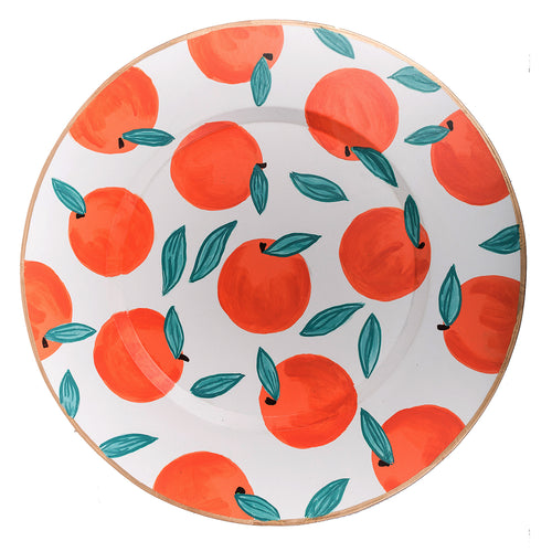"Oranges 14"" Charger Plate 4-Pack"