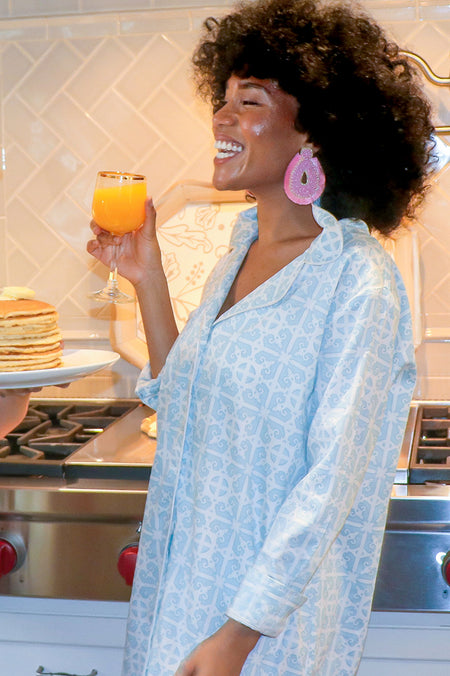 Don't Fret Pink Sateen Robe