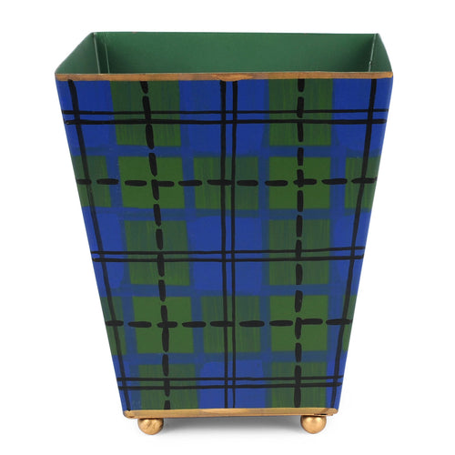 Scottish Plaid Square Cachepot
