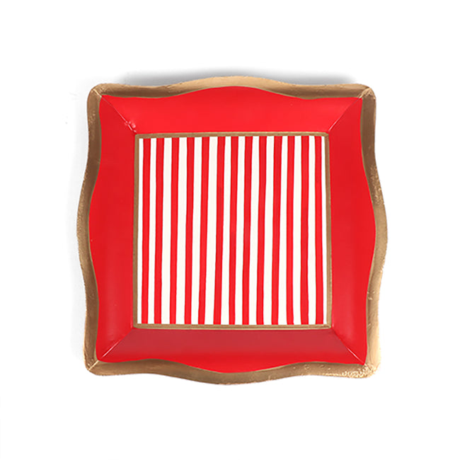 Holiday Pinstripe Social Tray