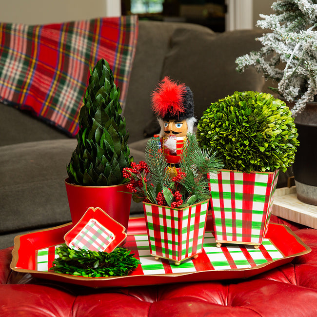 Holiday Plaid Tea Tray