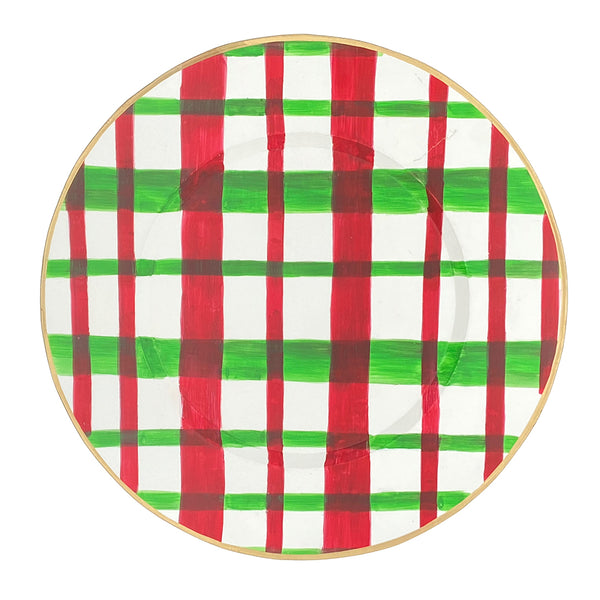 Holiday Plaid Charger Set (4pk)