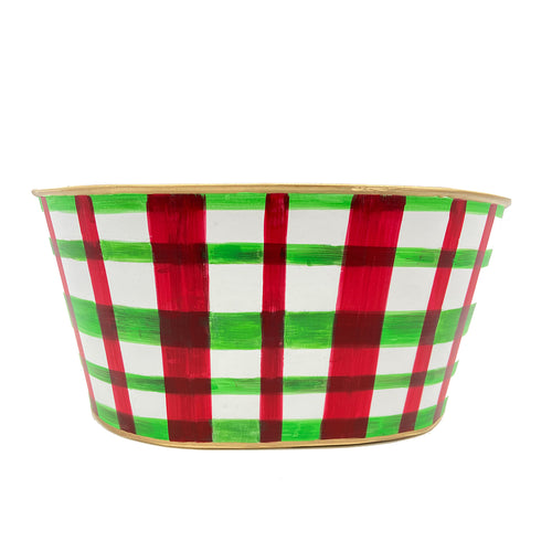 Holiday Plaid Tub