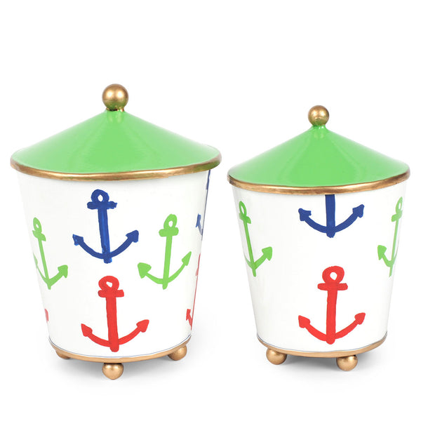 Anchors Set of 2 Canisters