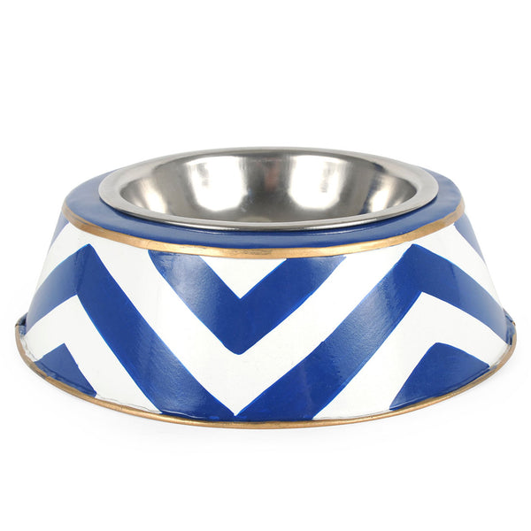 Chevron Dog Bowl