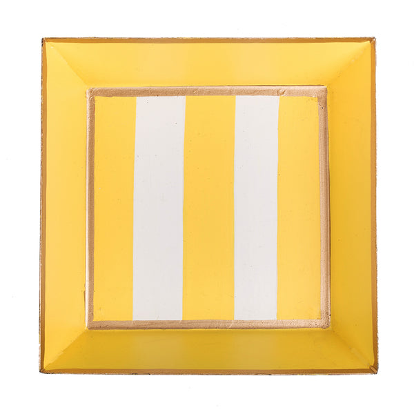 Vertical Yellow Stripe Cocktail Napkin Tray