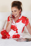 Poppies on Paradise Sateen Capri Pajama Set