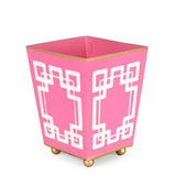 Interlocking Key Pink Square Cachepot