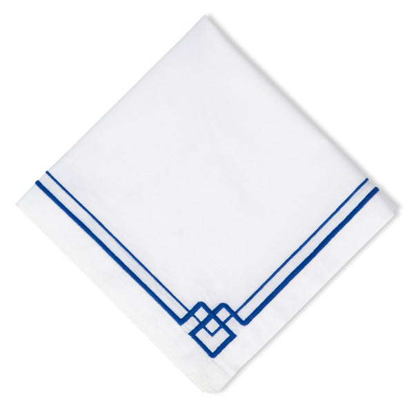 Interlocking Key Blue Napkins (12pk)