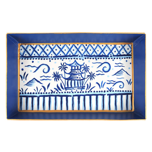 Pagoda Organizational Tray with Handles