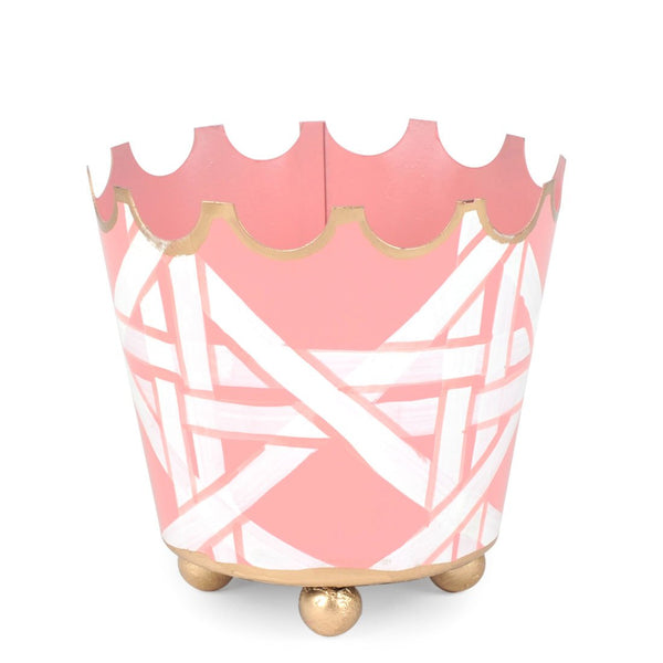 "Cane Pink 4"" Crown Top Cachepot"