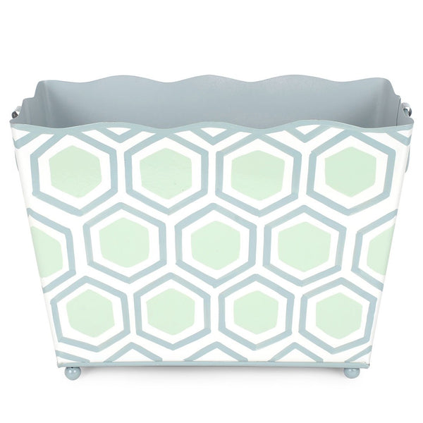 Honeycomb Green Rectangle Magazine Holder