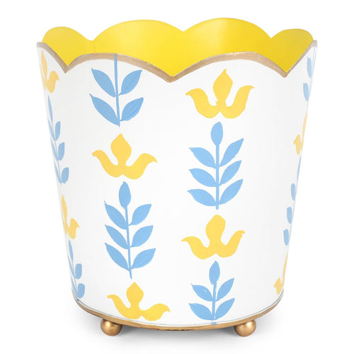 Foliage Blue Decorative Cachepot
