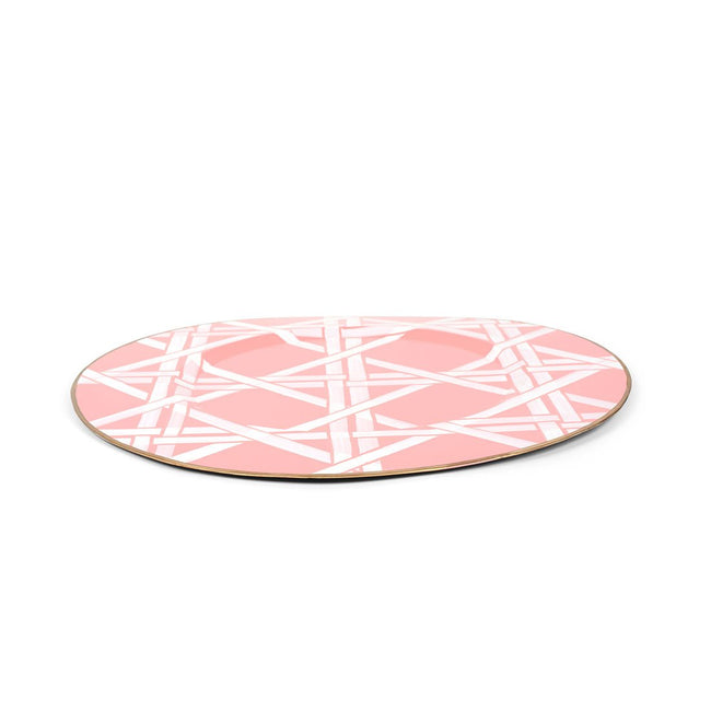"Cane Peach 11"" Charger Plate 4-Pack"