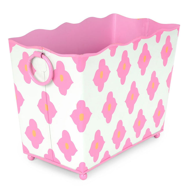 Felix Pink Rectangle Magazine Holder