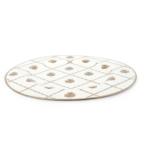 "French Bee Cream 14"" Charger Plate 4-Pack"
