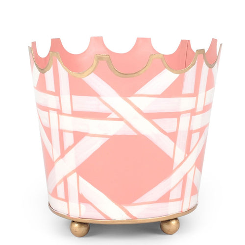 "Cane Pink 5"" Crown Top Cachepot"