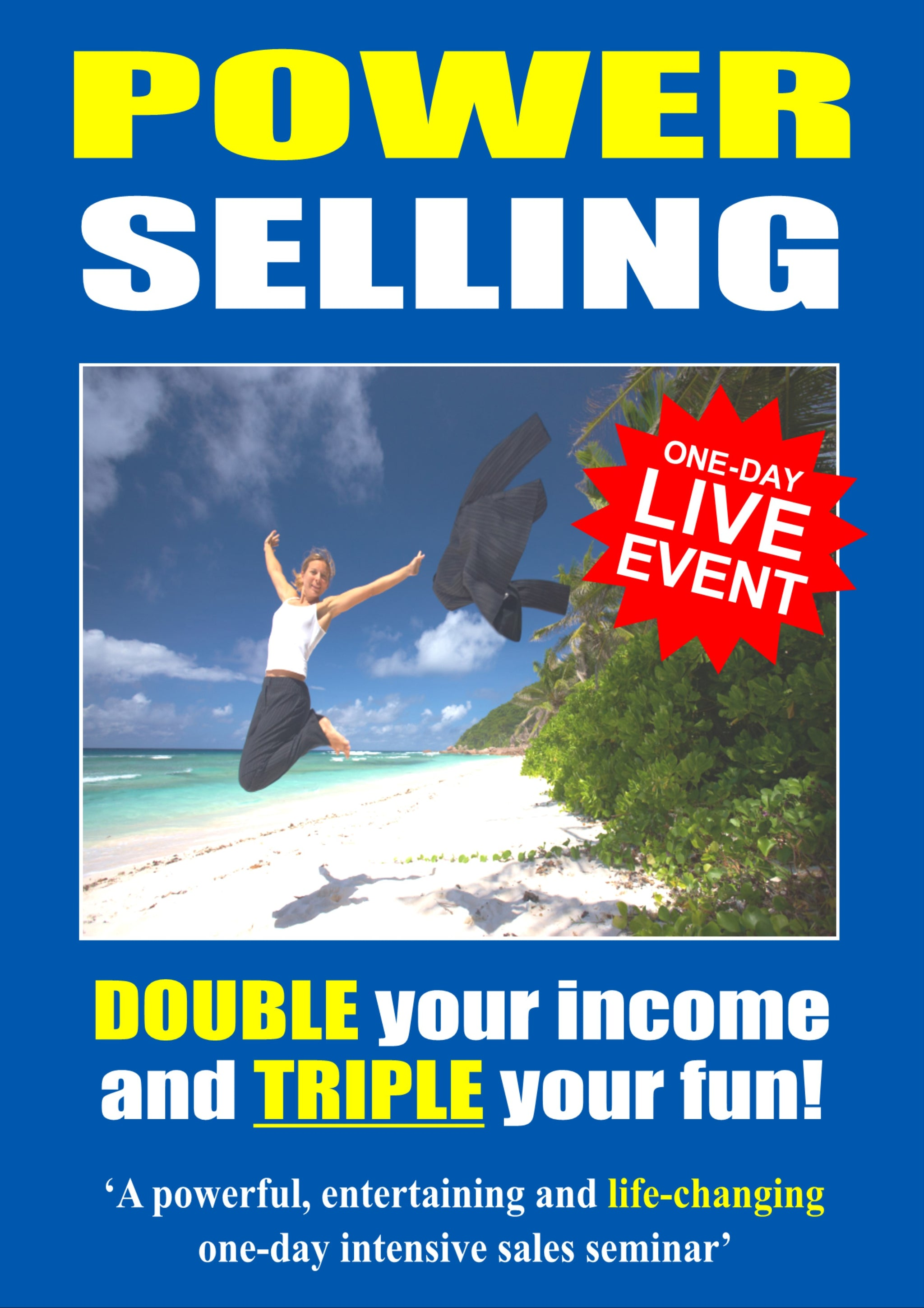 75f2fcf9237778 A picture of the front cover of a brochure advertising a one-day sales  training ...