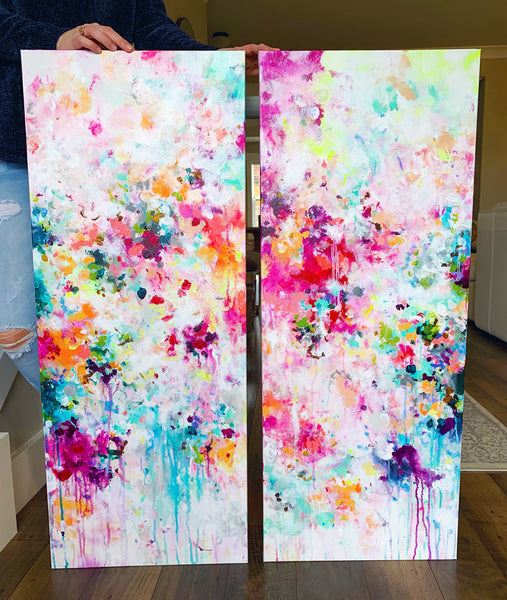 "'Sisters' 2-16x40"" Original Paintings"