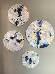 'The Ellie' (Set of 4) Round Original Paintings