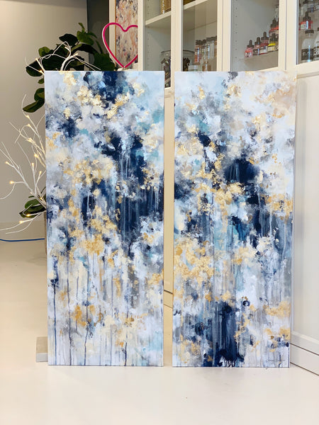 "'Wish Upon A Star' 2-16x40"" Original Paintings"