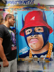 "Artclass: LL Cool J is Batman original canvas (36""x48"")"