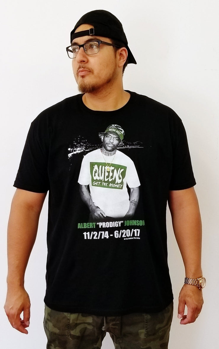 """wc"" R.I.P. Prodigy of Mobb Deep t-shirt"