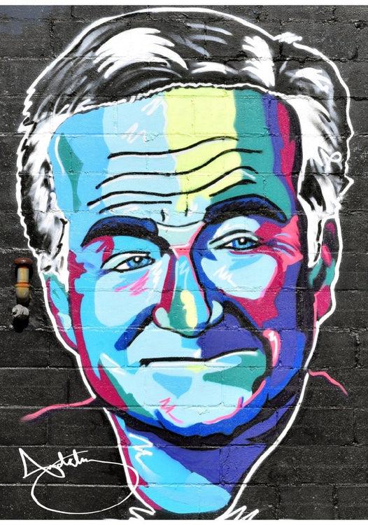 "Robin Williams Colorful Personality Print (16""x20"")"
