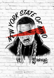 """wc"" Nas New York State of Mind Print (17"" x 24"")"