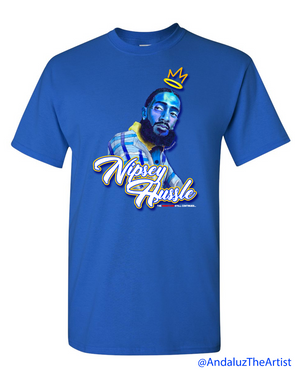 Nipsey Hussle In Memory Royal Blue T-Shirt