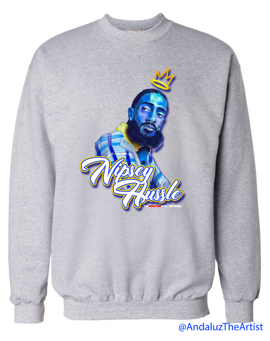 Nipsey Hussle In Memory Sweater Grey