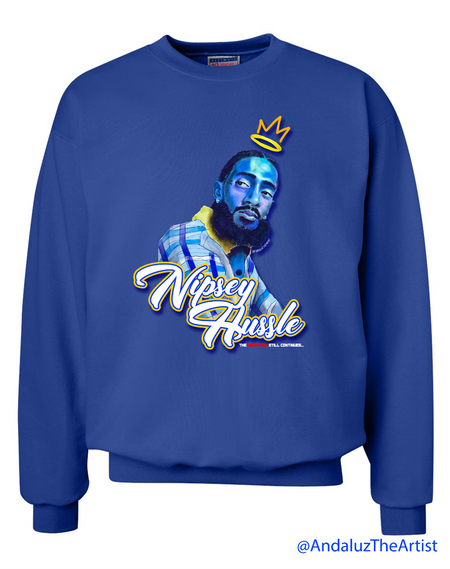 Nipsey Hussle In Memory Royal Blue Sweater