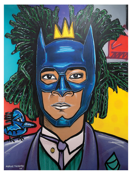 "Jean-Michel Basquiat Batman/Joker 17""x22"" art print"