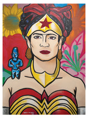 "Frida Kahlo Wonder Woman 17""x22"" art print"