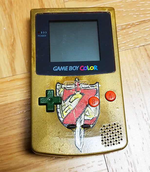 Custom Painted Gameboy Color (Zelda Theme) – andaluztheartist