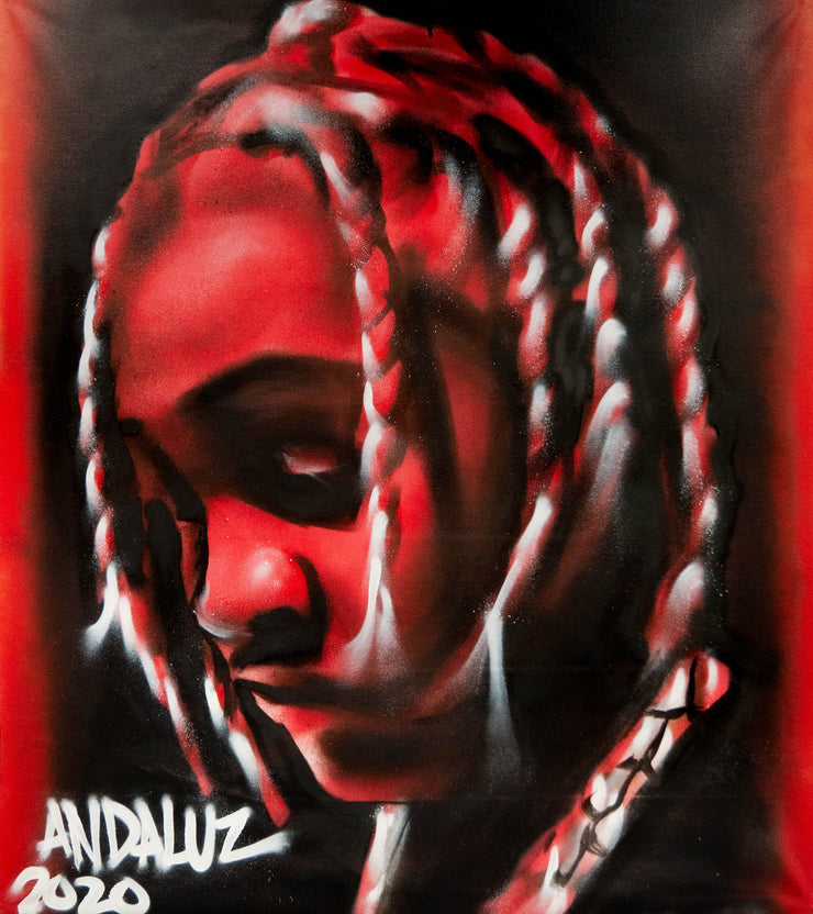 Lil Durk Original Canvas Painting (3ft x3.5ft)