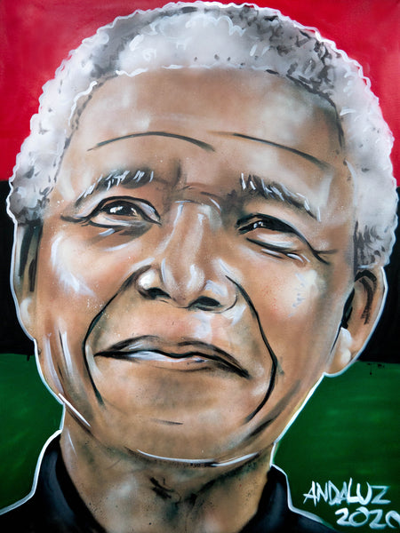 Nelson Mandela Original Canvas Painting (3ft x 4ft)