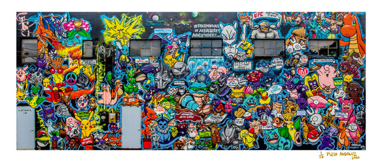 "Pokemon Wall Limited Edition Art Print (17""x40"")"