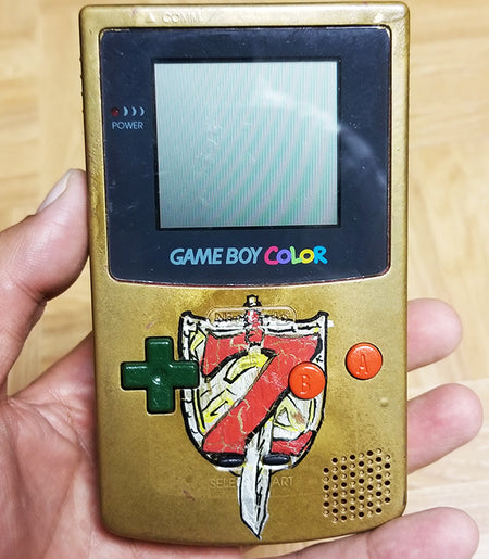 Custom Painted Gameboy Color (Zelda Theme)