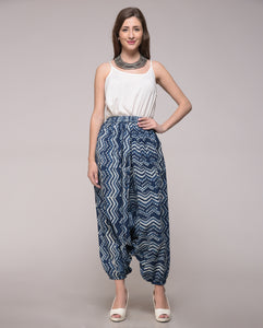 DABU PRINTED CHEVRON HAREM PANT IN COTTON