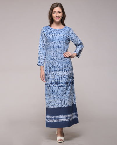 SHIBORI PATCH SLIT DRESS